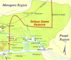 Selous map 300x257 Selous